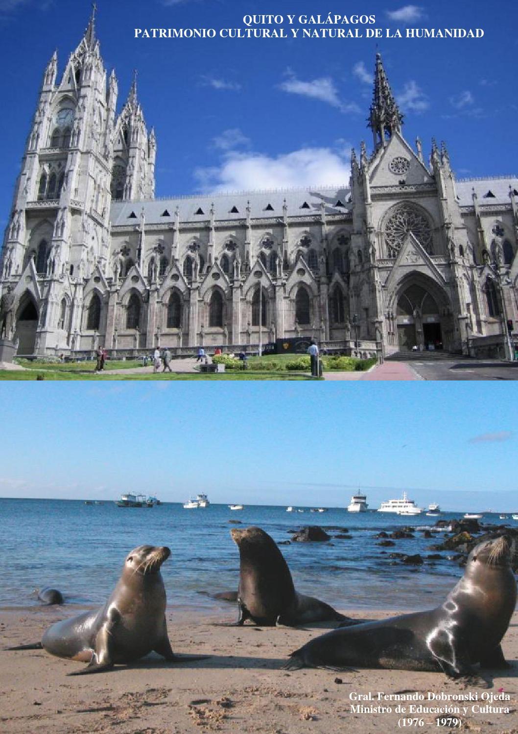 Quito Y Galapagos Patrimonio Cultural Y Natural De La Humanidad By Academia Nacional De Historia Militar Del Ecuador Issuu