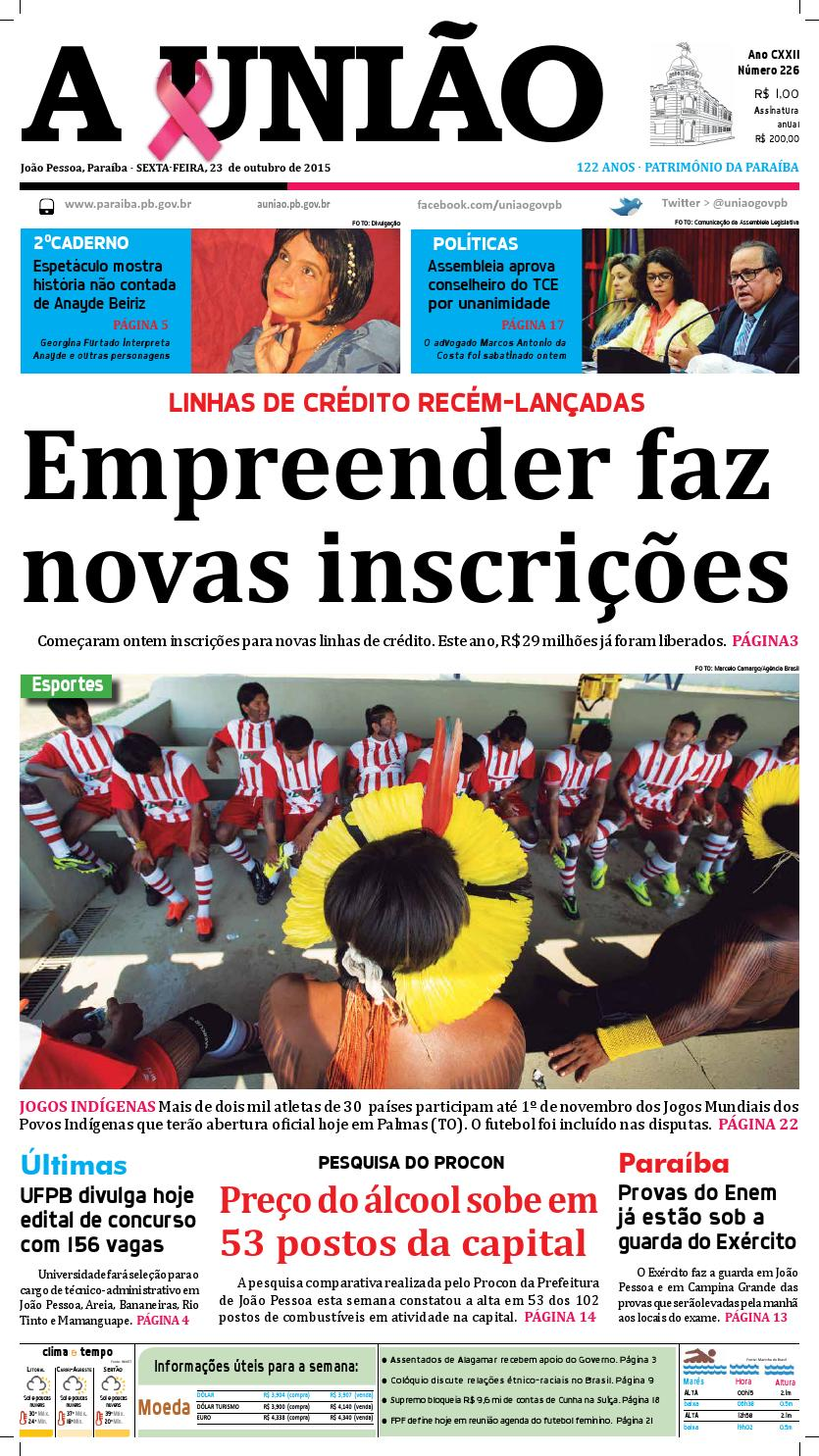 b1ff0fce6c8 Jornal A União - 23 10 2015 by Jornal A União - issuu