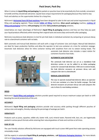 Pack Smart, Pack Dry by Nichrome India - issuu