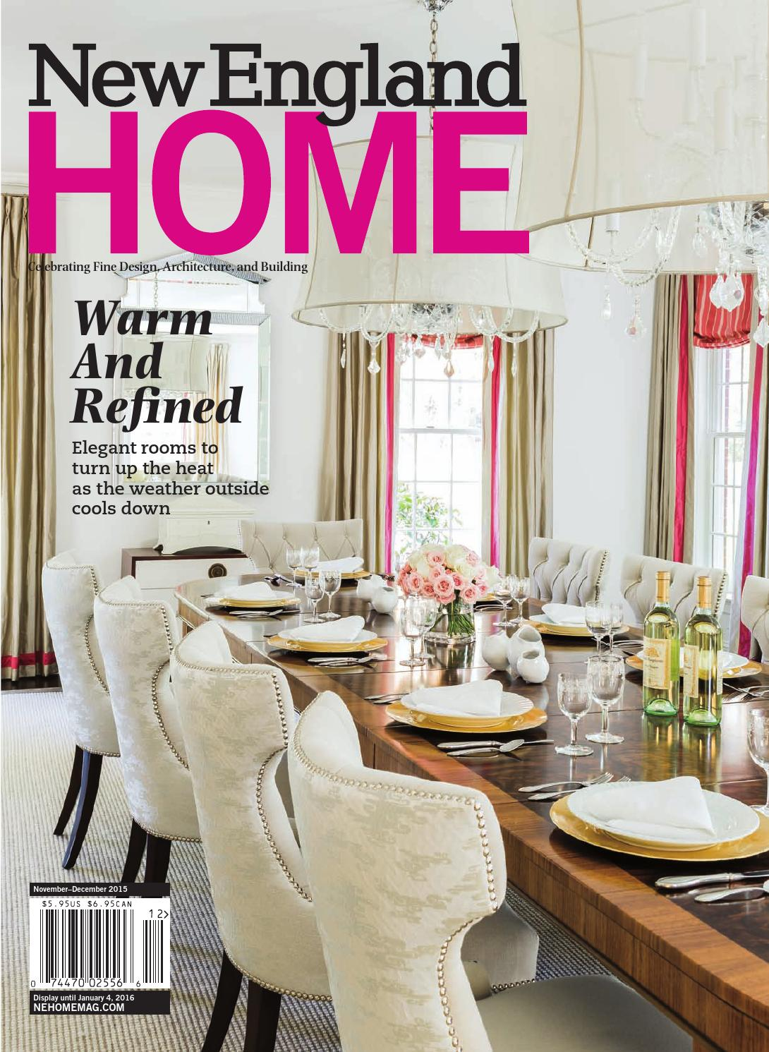 New England Home November December 2015 By New England Home Magazine Llc Issuu