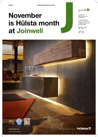Hulsta Month At Joinwell By Joinwell Issuu