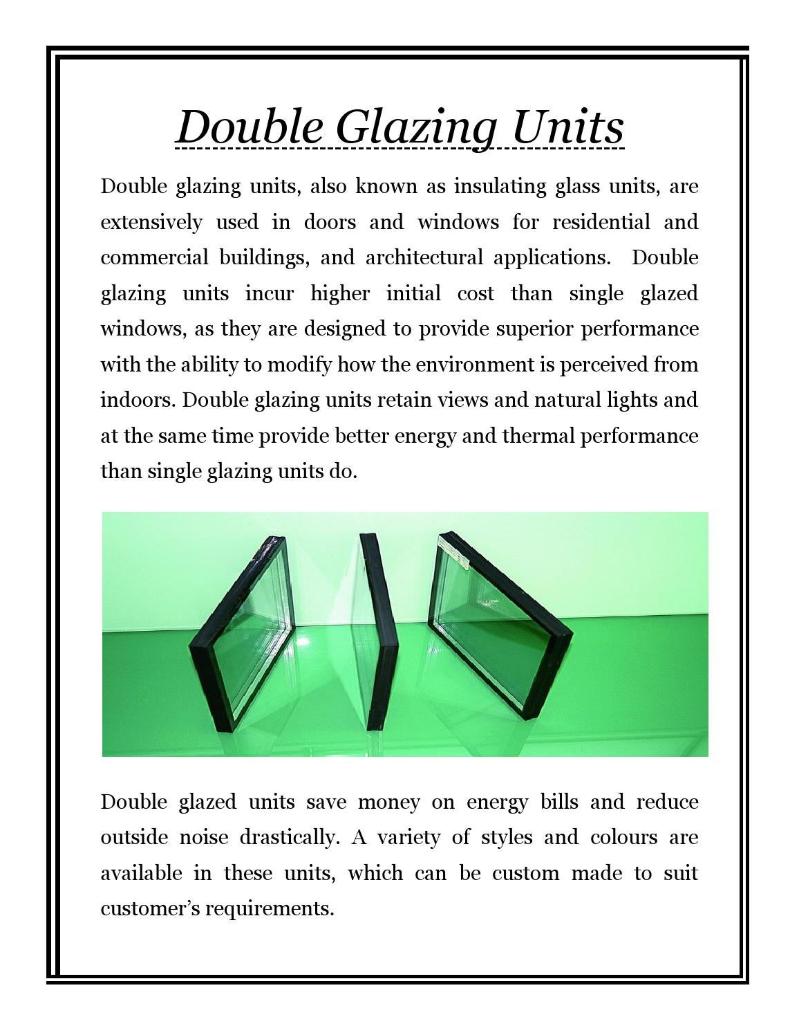 Double Glazing Units By Flat Glass Industries Issuu Diagram