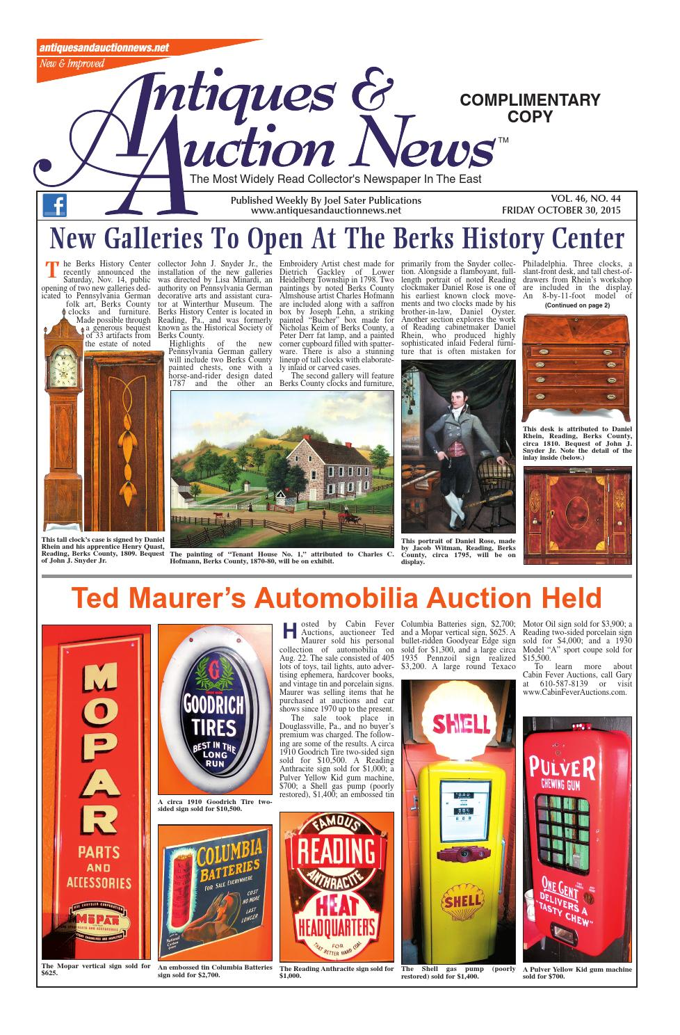 Antiques U0026 Auction News 103015 By Antiques U0026 Auction News   Issuu