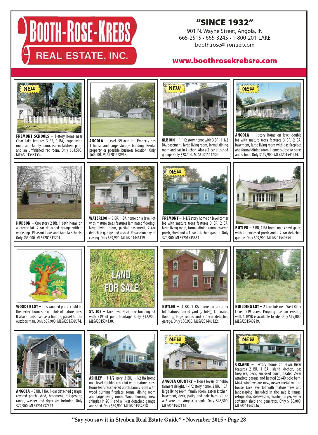 Steuben County Real Estate Guide - October 2015 by KPC Media