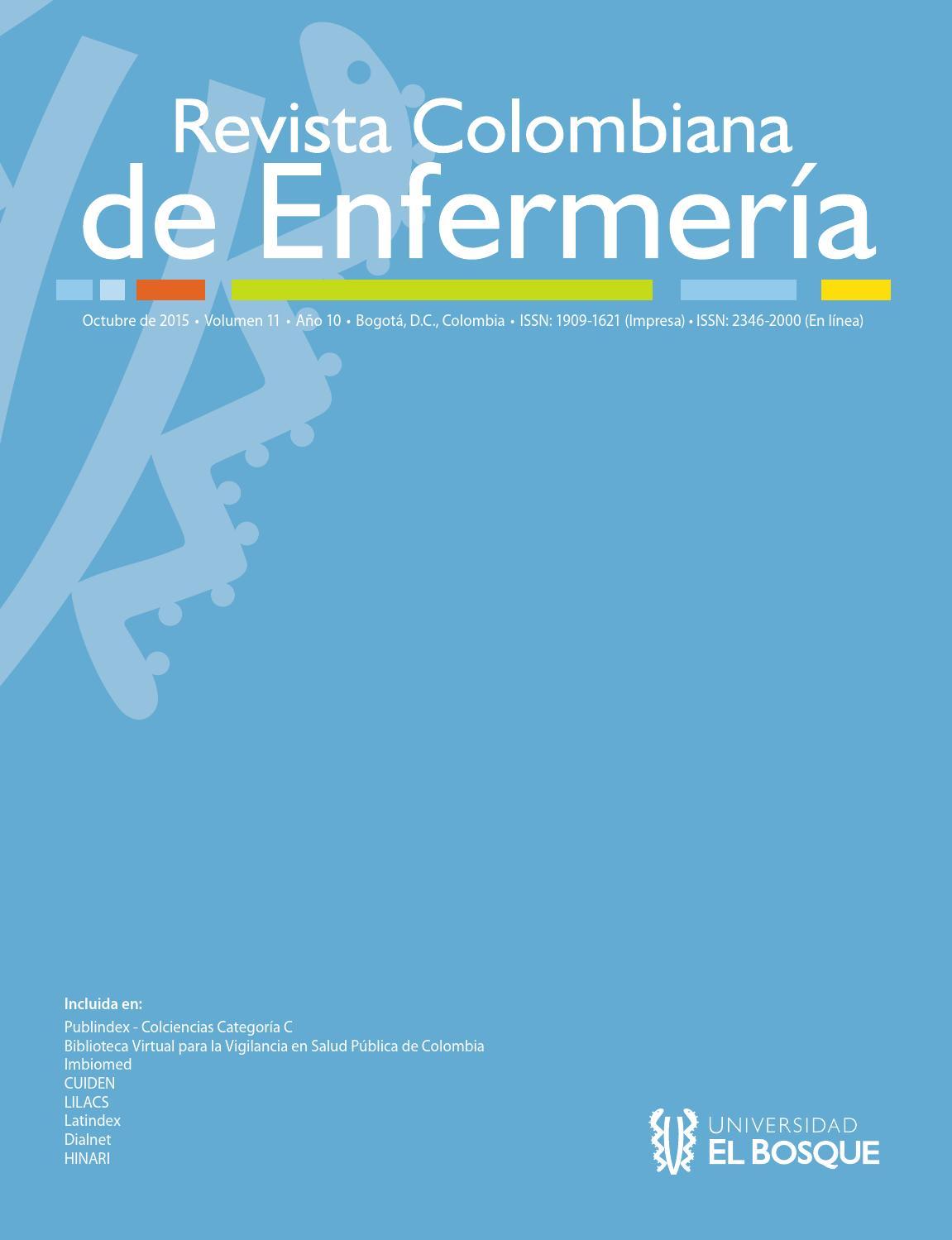 Revista Colombiana de Enfermería Vol. 11 Año 10 by Universidad El ...
