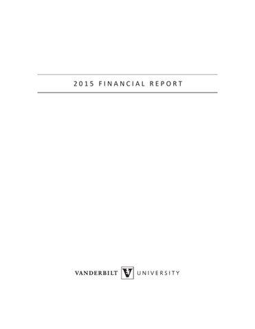 2015 Financial Report by Vanderbilt Web Communications - issuu