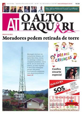 Jornal O Alto Taquari - 09 de outubro de 2015 by Jornal O Alto ... 856736d799e80