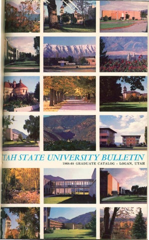 USU General Catalog 1968 Graduate by USU Digital mons issuu