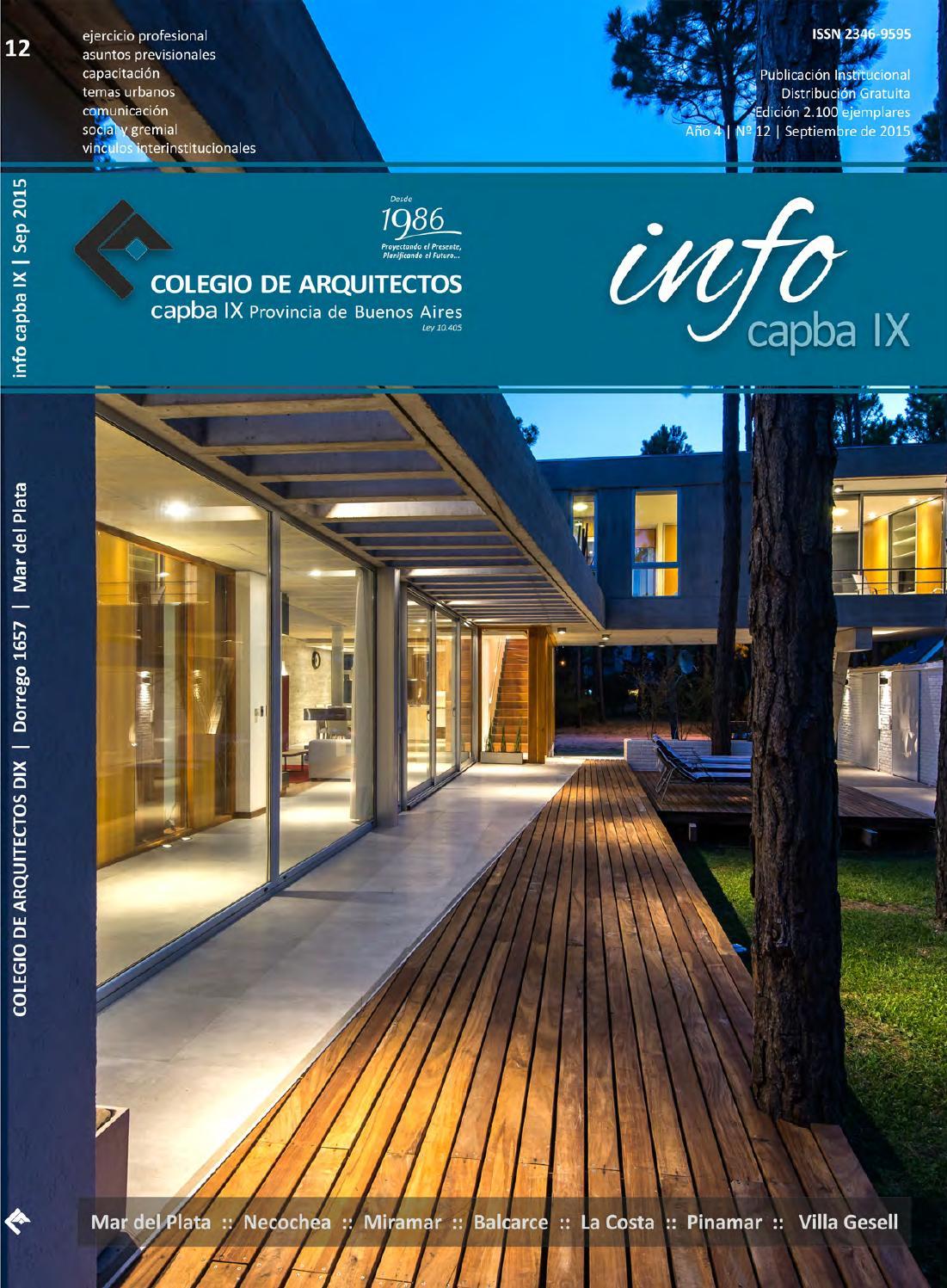 Infocapb 12 digital by colegio de arquitectos de la - Colegio de arquitectos de lleida ...