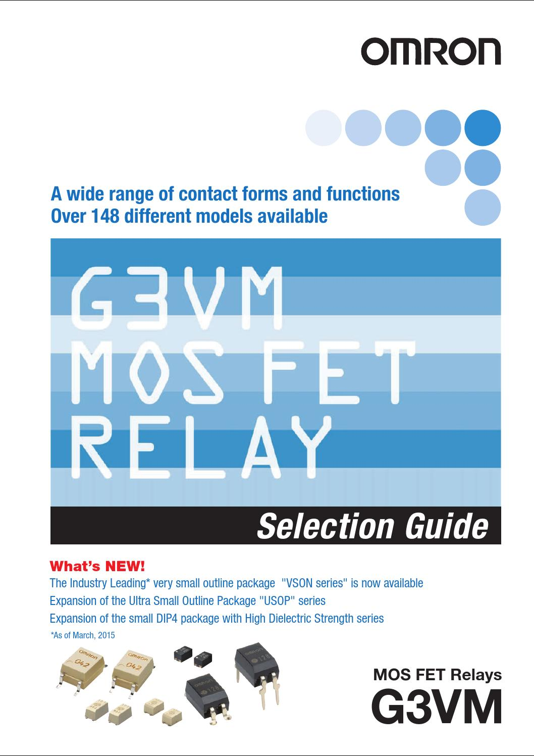 Mosfet Relay Selection Guide By Omron Electronic Components Basic Functions Of A Americas Issuu