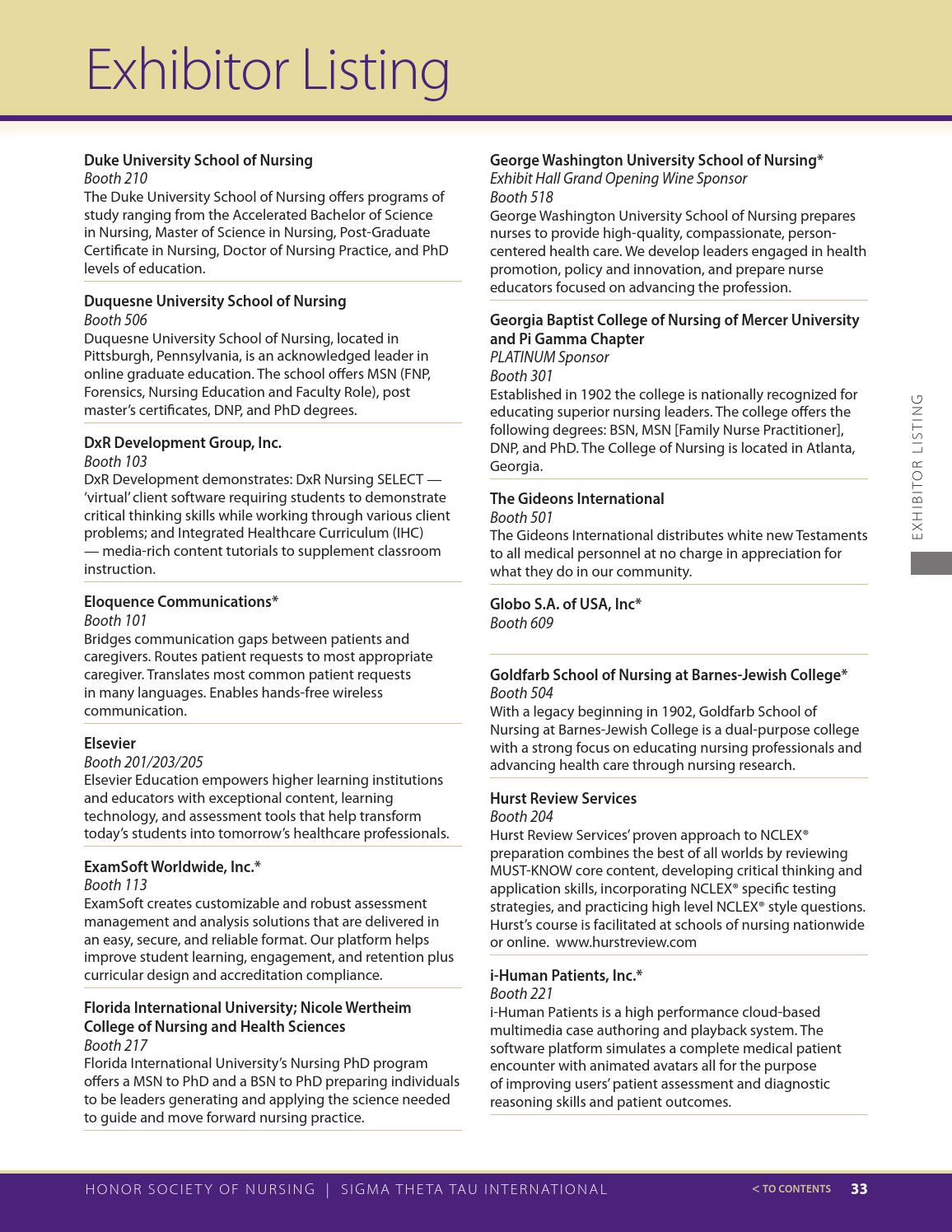 43rd Biennial Convention Program By Sigma Theta Tau International