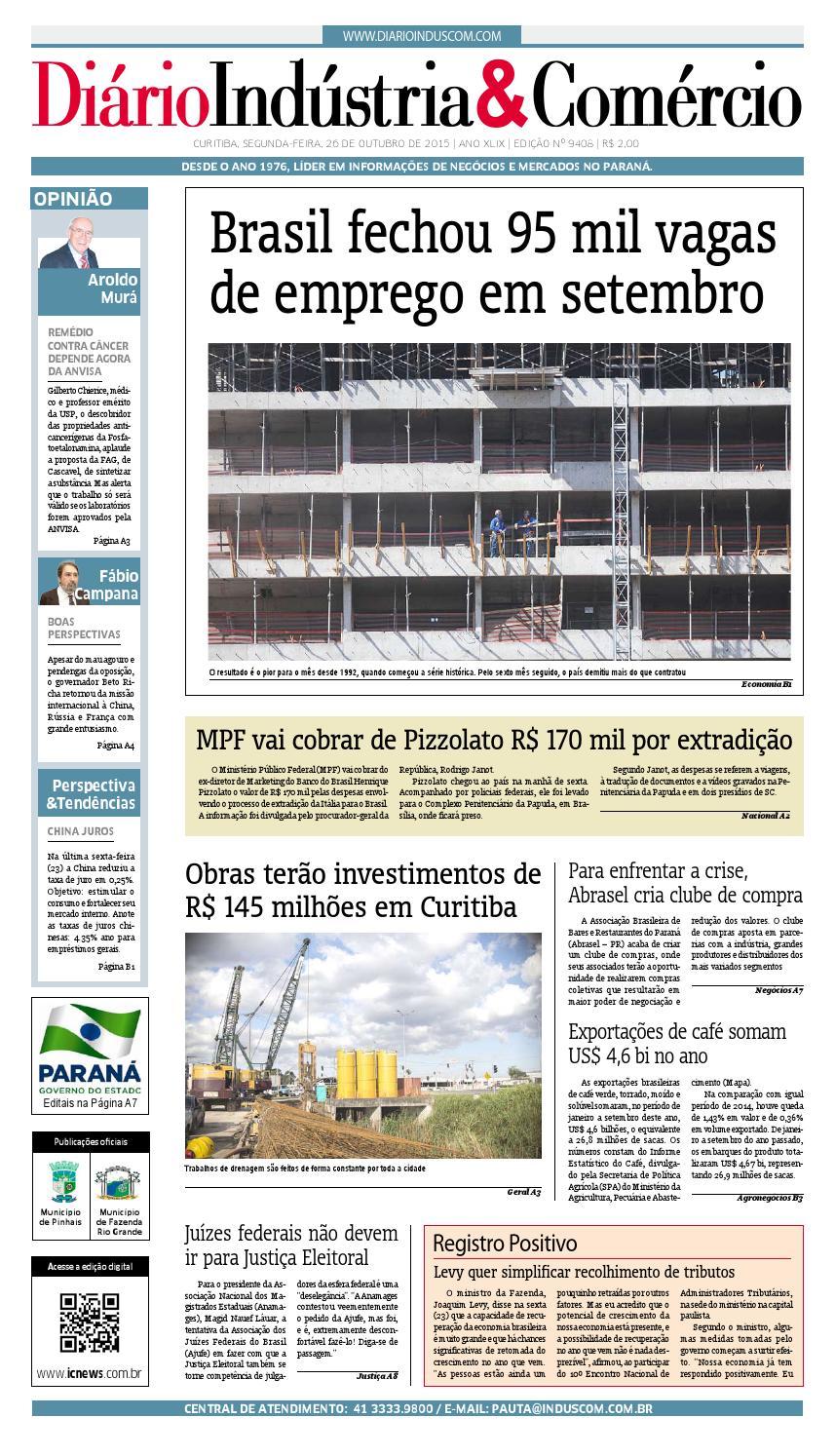 Diário Indústria   Comércio 26-10-2015 by Diário Indústria   Comércio -  issuu dbf203d2ee7