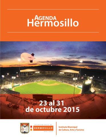 """Cover of """"Agenda Hermosillo del 23 al 31 de octubre"""""""