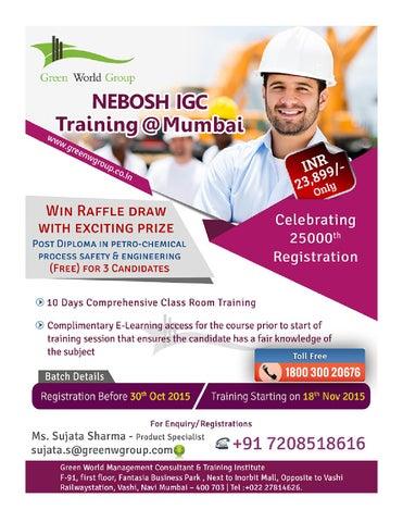 Best Nebosh Course Training In Mumbai By Greenworld Chennai Issuu