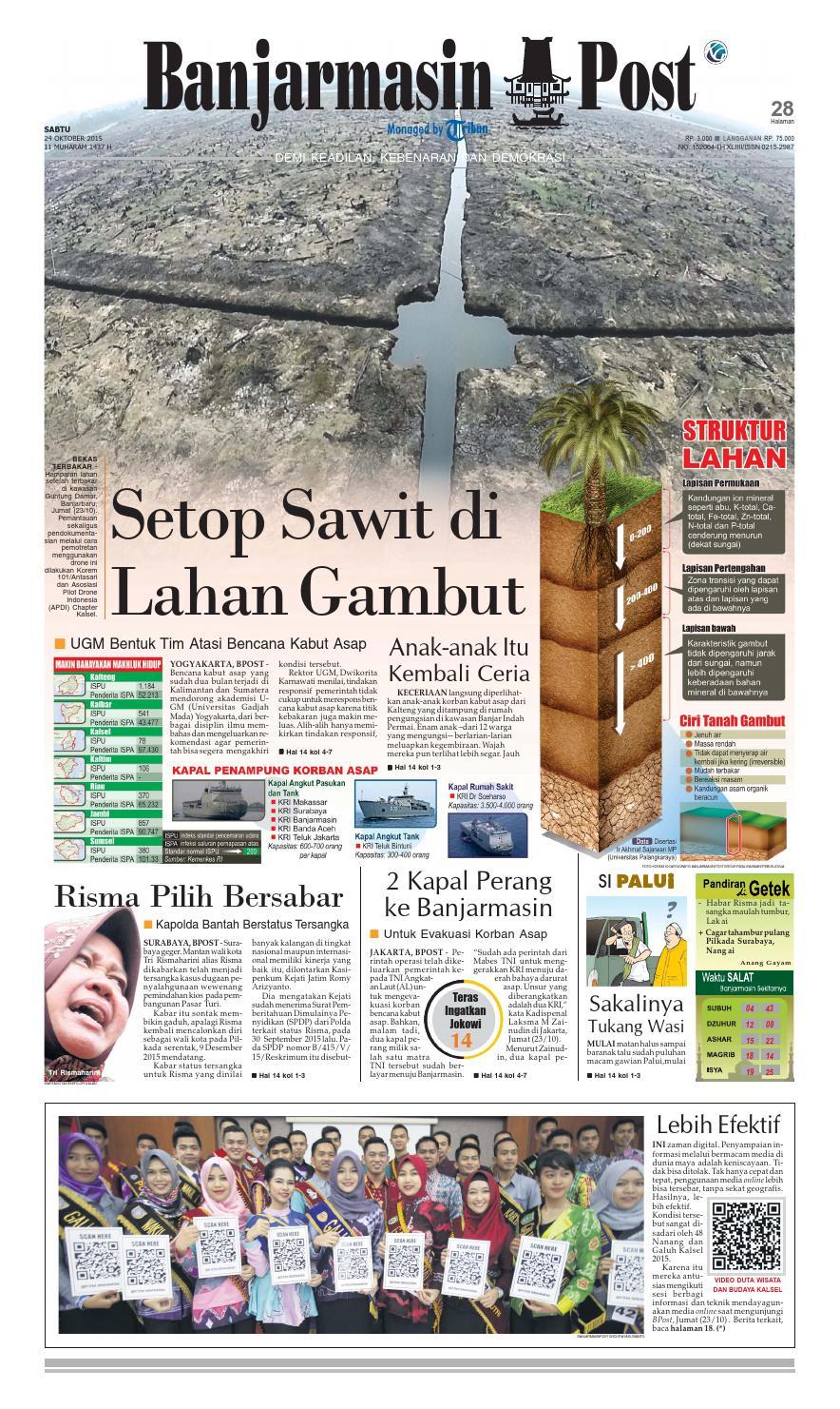 Banjarmasin Post Sabtu 24 Oktober 2015 By Issuu Produk Ukm Bumn Bale Sehat Teh Rosella Merah 3 Box