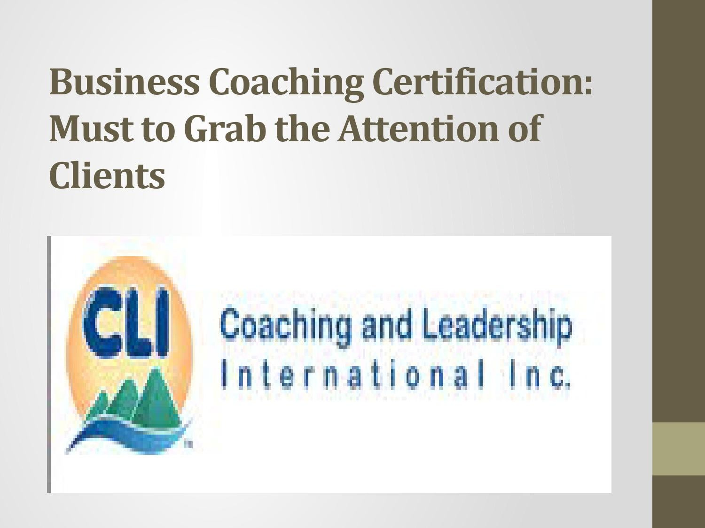 Business Coaching Certification By John Burr Issuu