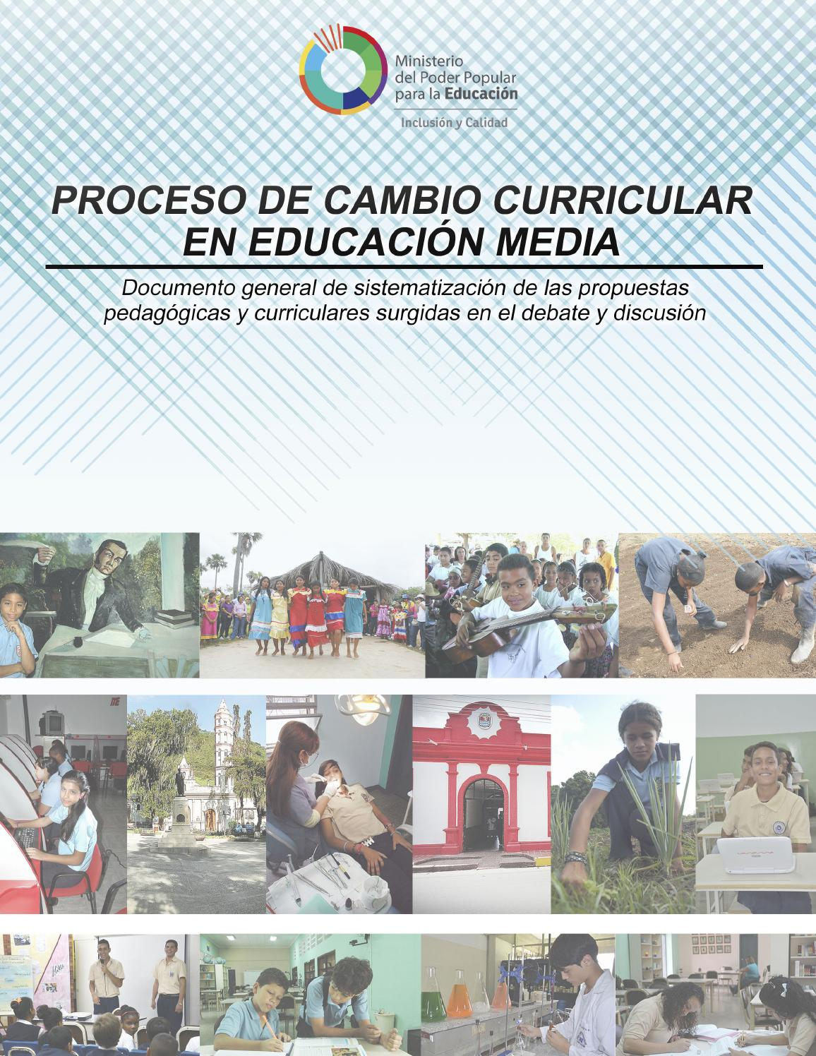 Proceso de cambio curricular en Educación Media by Luis Peñalver - issuu