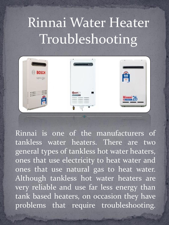 Rinnai Water Heater Troubleshooting By Gabriel Tekle Issuu