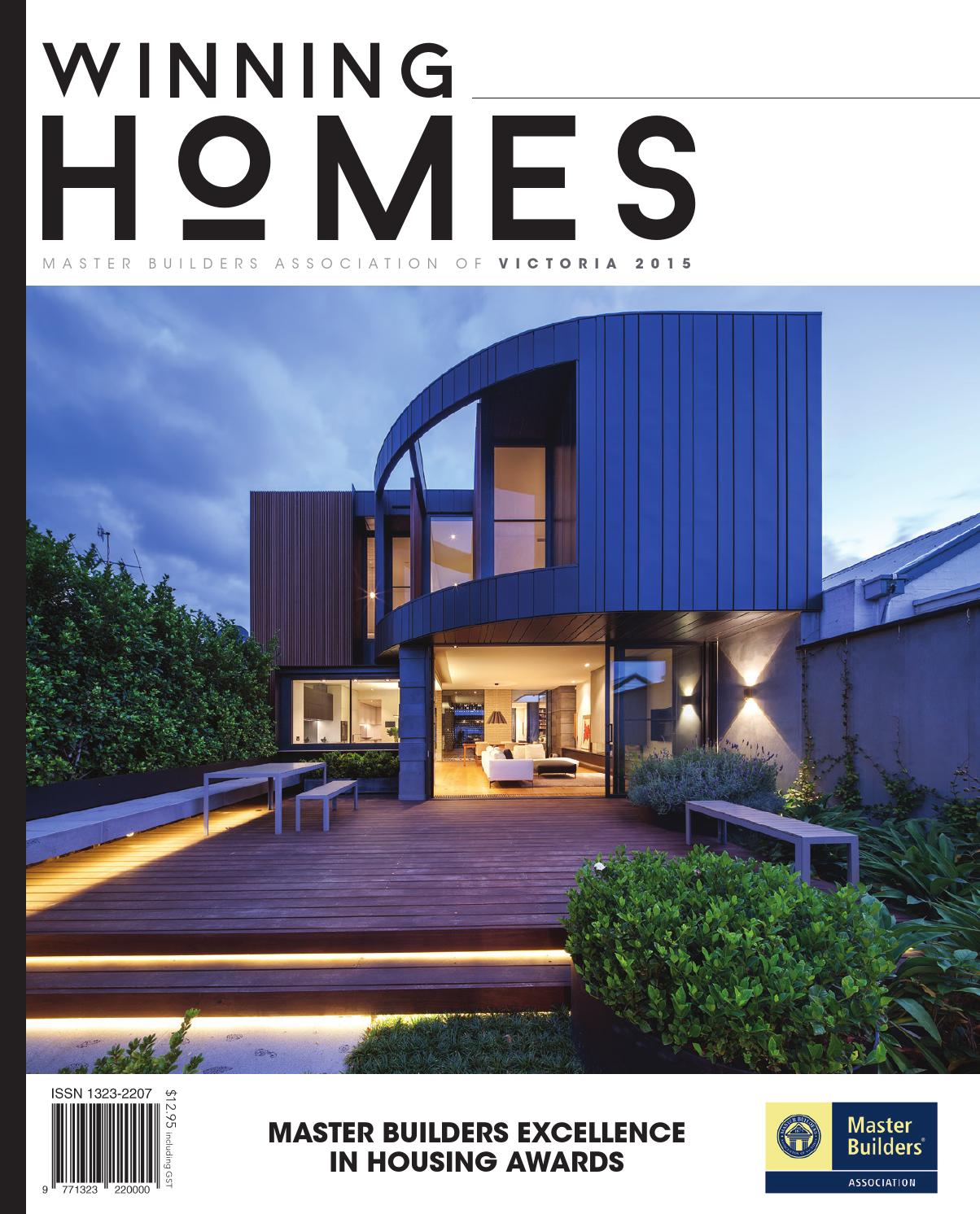 2015 master builders victoria winning homes magazine by for Home builder magazine