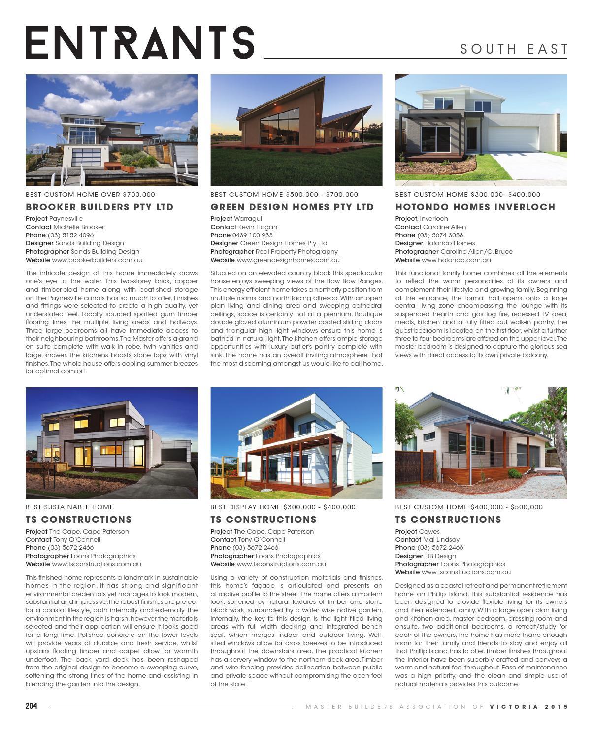 2015 Master Builders Victoria Winning Homes Magazine by ark:media ...