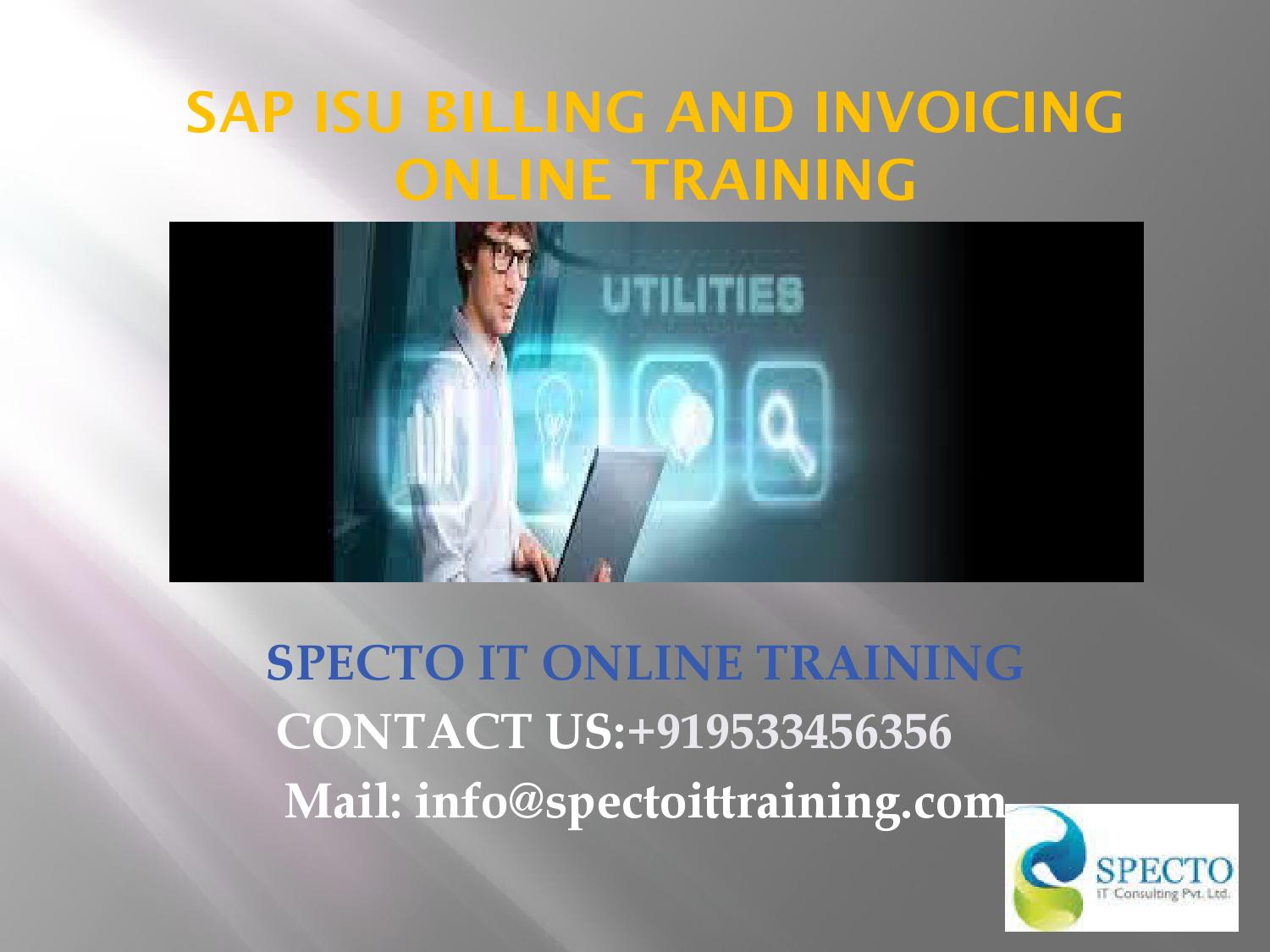 Sap isu billing and invoicing online training in bangalore