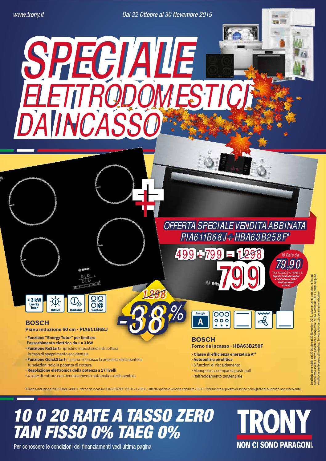 Speciale Elettrodomestici da Incasso Trony by Leonardelli ...