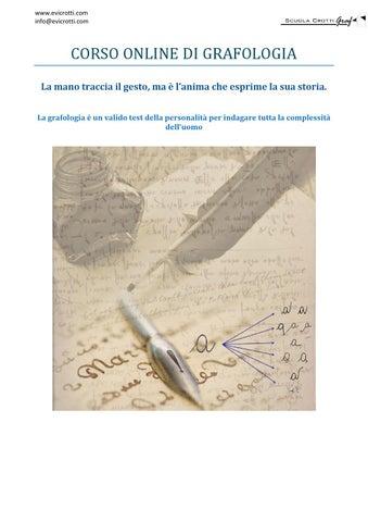 Manuale Di Grafologia Pdf