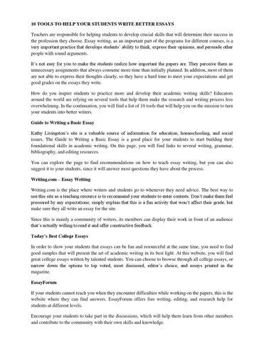 Order of essay writing