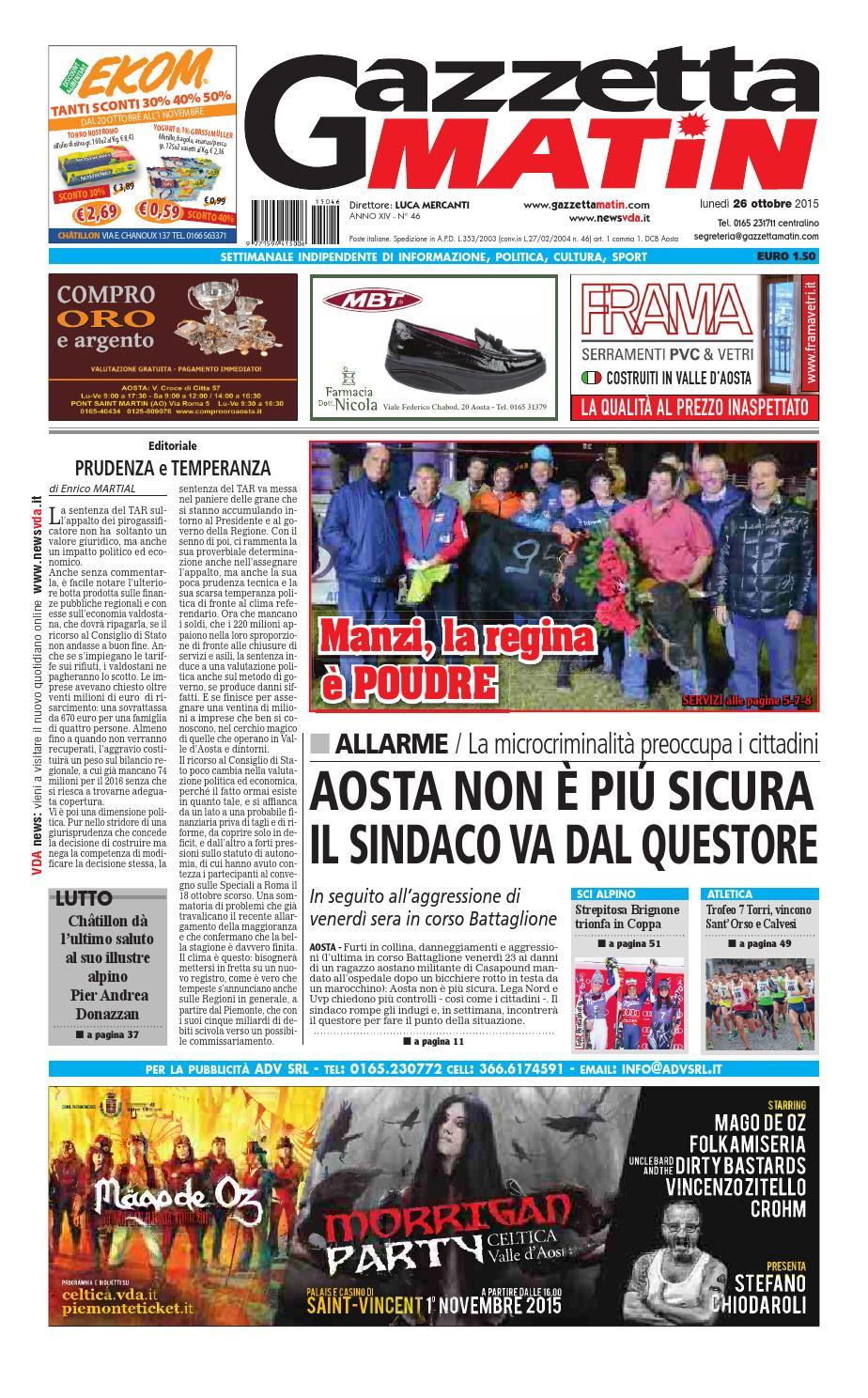 Gazzetta Matin del 26 ottobre 2015 by NewsVDA - issuu 690aeefc7061