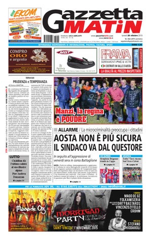 Gazzetta Matin del 26 ottobre 2015 by NewsVDA - issuu 1702a7b1ba8