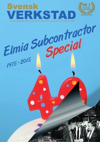 Svensk Verkstad nr. 5 Elmia special, guide till utställarna på Elmia Subcontractor 2015.