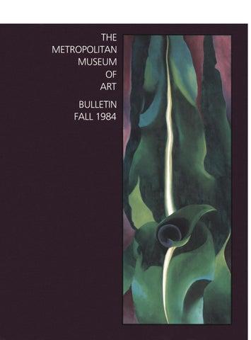 Georgia o keeffe the metropolitan museum of art bulletin v.42 #2 fall 1984