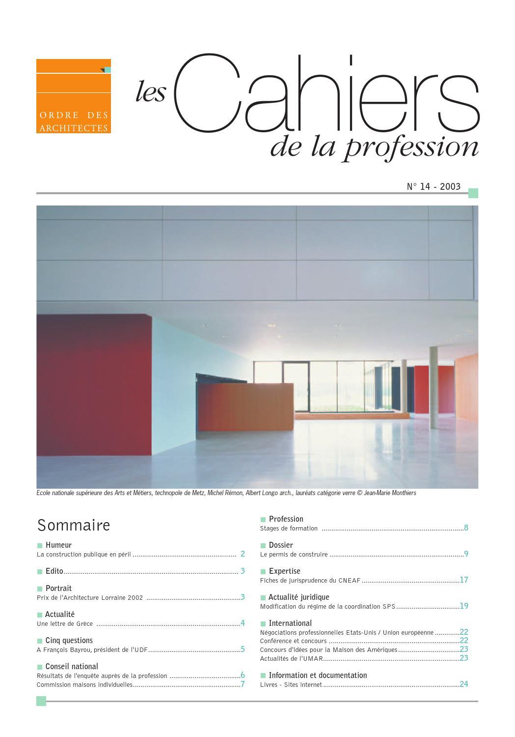 Les Cahiers De La Profession N 14 By Cnoa Issuu
