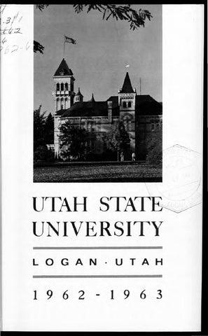 USU General Catalog 1962 by USU Digital Commons - issuu 3b18a137ba8