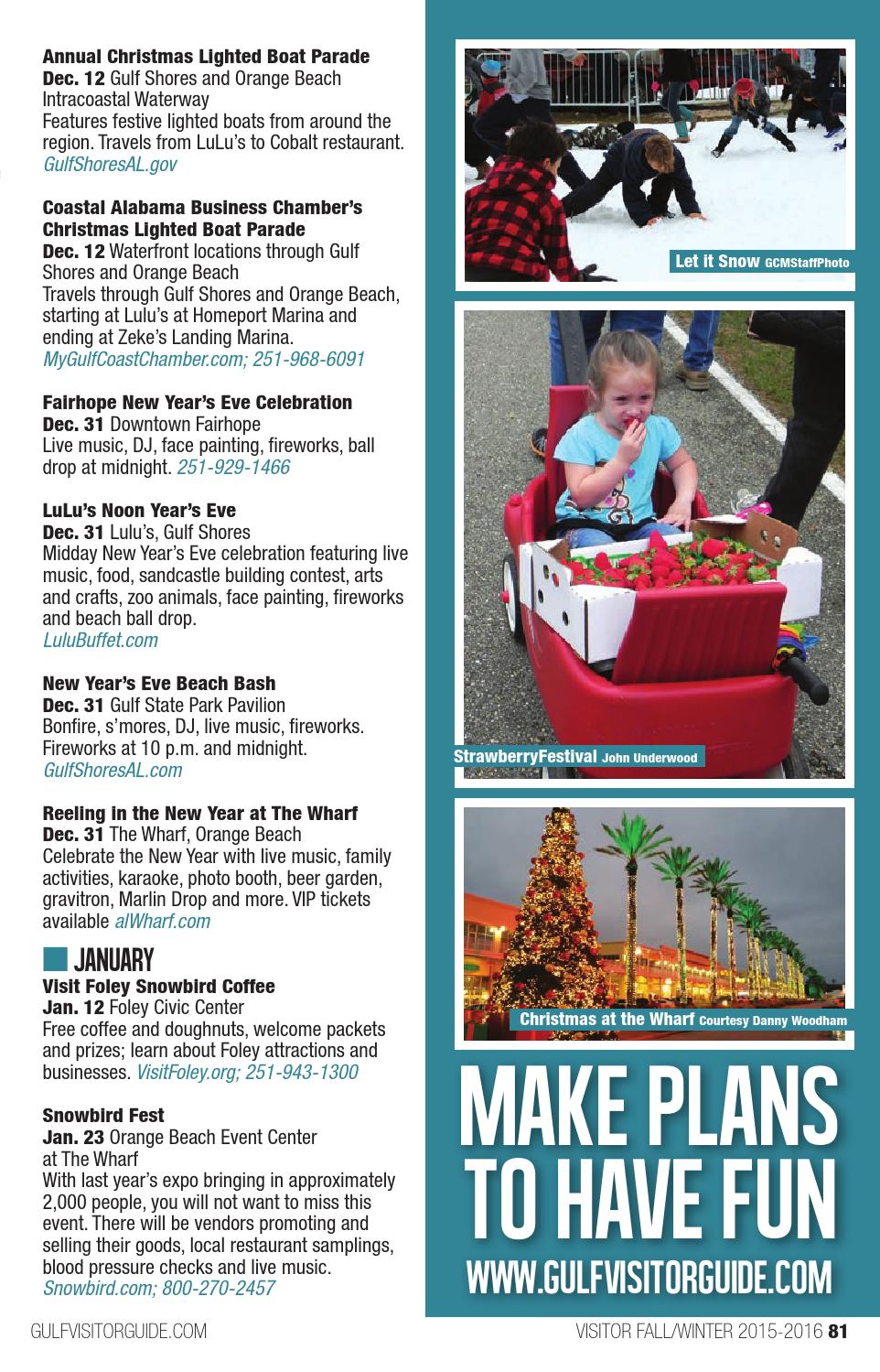 Visitor Guide Fall/Winter 2015 by Gulf Coast Media - issuu