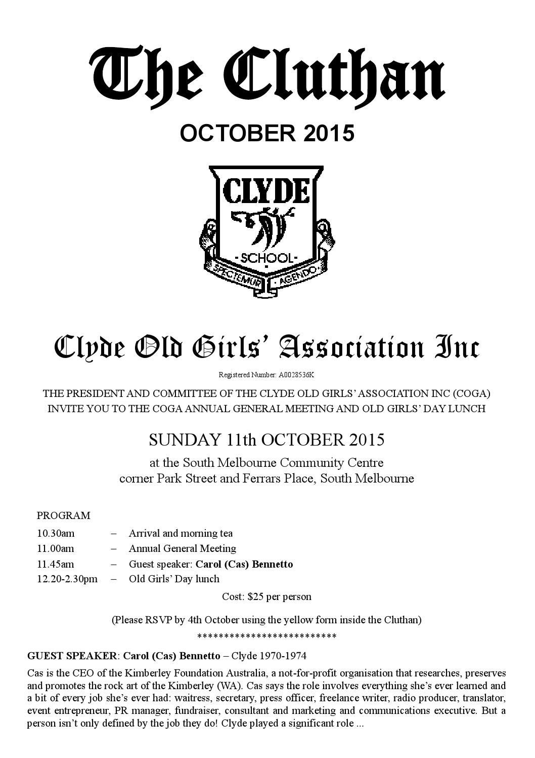 ea5883de The Cluthan - 2015 by Geelong Grammar School - issuu