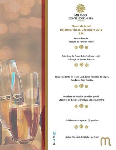 Menu De Noel Lotte.Christmas Lunch Menu Of The Miramar Beach Hotel Spa Menu