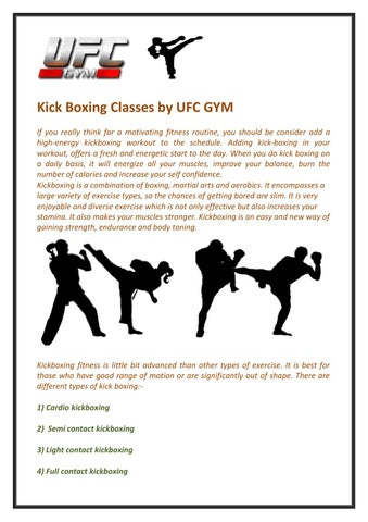 Kick Boxing Classes by UFC Gym by Laura Hutchinson - issuu