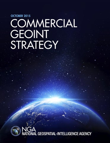 NGA Commercial GEOINT Strategy by National Geospatial