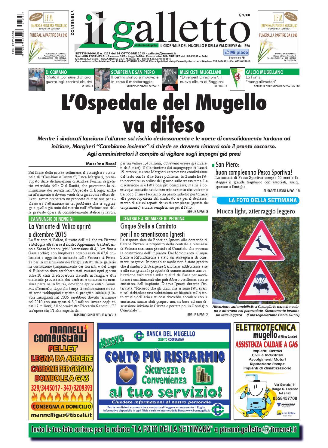Galletto 1227 del 24 ottobre by Il Galletto Giornale - issuu 51d77b2afe5