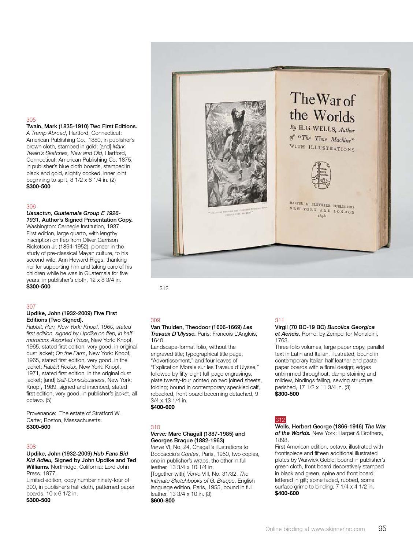 Fine Books & Manuscripts | Skinner Auction 2865B by Skinner