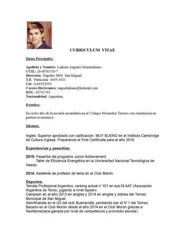 Augusto Laikam Curriculum Vitae 1 By Nicoyelniga Issuu