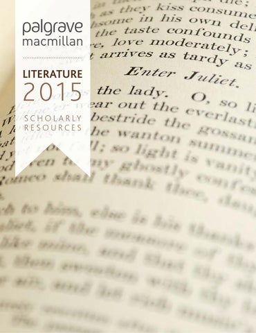 Literature 2015 By Macmillan International Higher Education Issuu