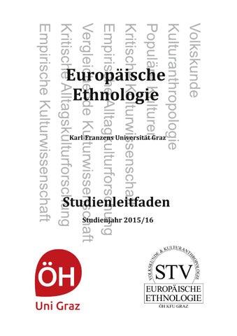 Studienleitfaden Europäische Ethnologie Ws1516 By Oeh
