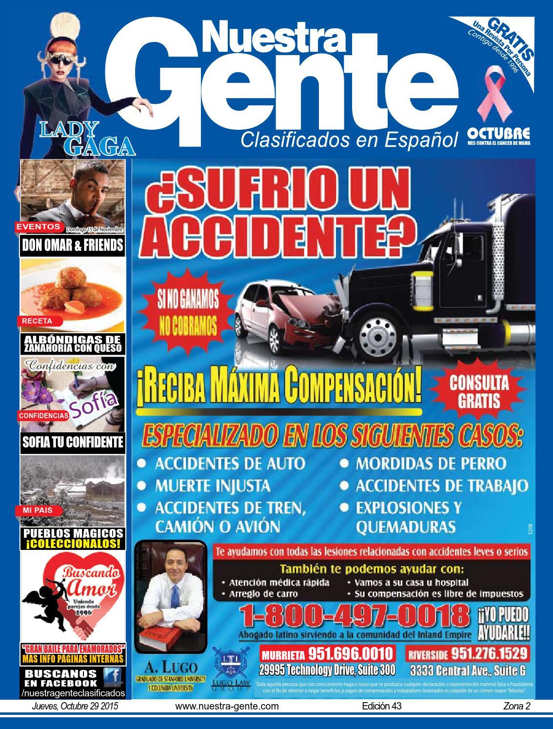 Nuestra Gente 2015 Edicion 43 Zona 2 by Nuestra Gente - issuu