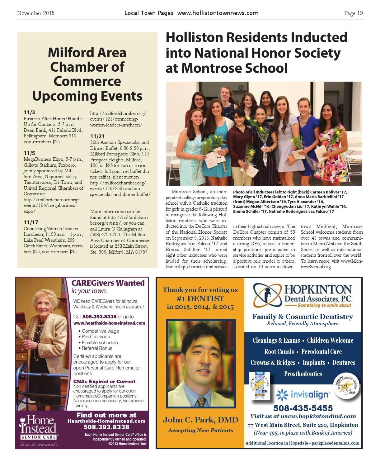 Holliston November 2015 by Local Town Pages - issuu
