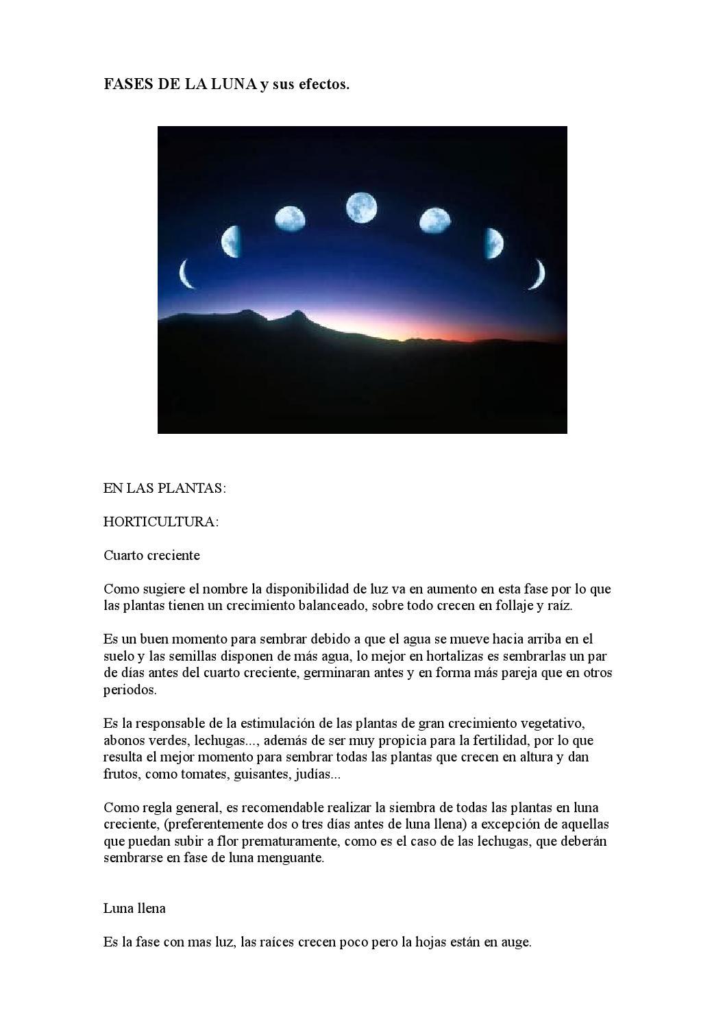Fases de la luna y sus efectos by jose - issuu