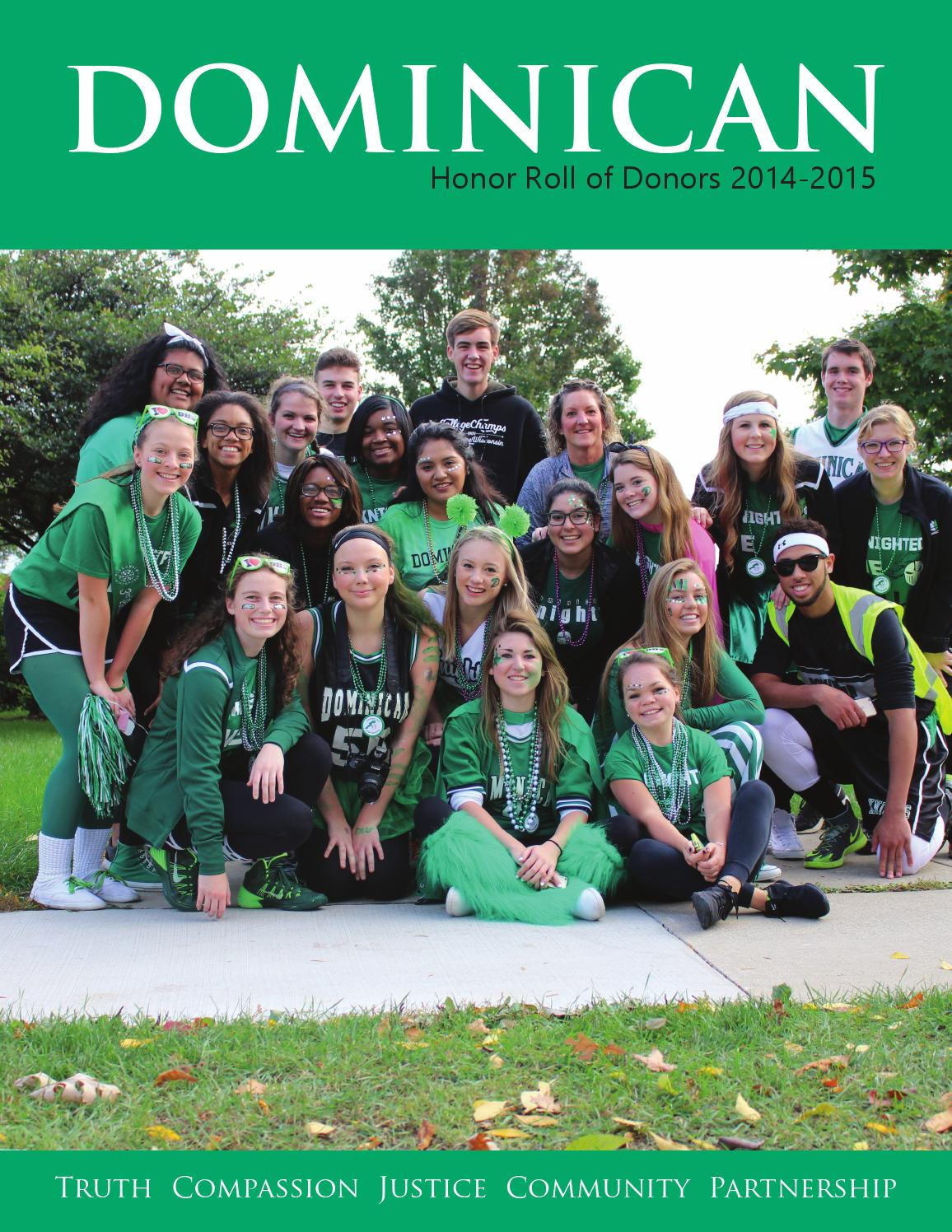 Honor roll of donors 2015 by Dominican High School - issuu