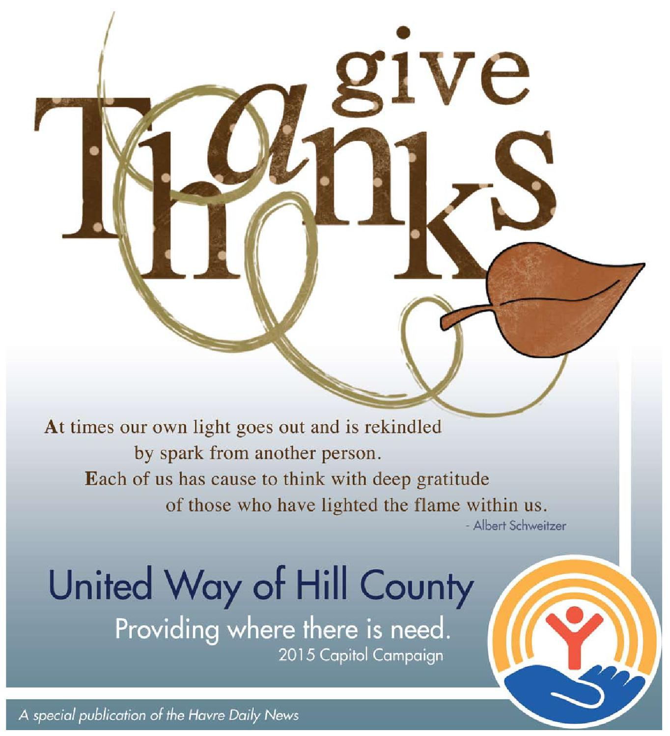 United Way Tab 2015 By Havre Daily News Issuu