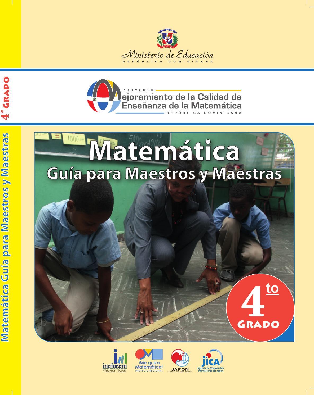 Libro de Matemáticas para estudiantes de 4to. grado de primaria by ...